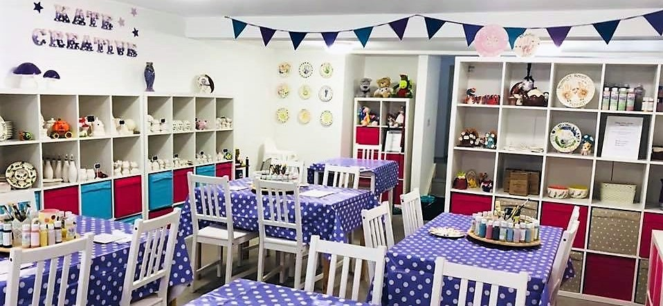 Kate Creative Pottery Painting Studio, Newchapel, Lingfield, Surrey